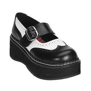 Shoes - Platform Mary Jane Shoes Gothic Saddle Wing Tip